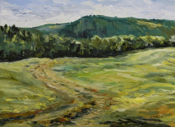 The Road to the World 12 x 16 inch oil on canvas by Terrill Welch 2012_09_02 019