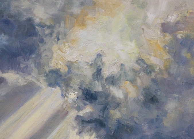 detail Sea and Sky French Beach 12 x 16 inch walnut oil on wood with 1.5 inch cradle by Terrill Welch 2015_02_01 060