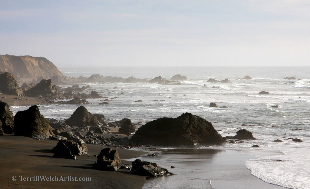 hazy California coast mile 80.49 by Terrill Welch 2015_03_04 239