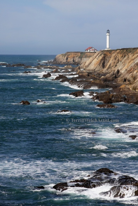 Point Arena Lighthouse California coast by Terrill Welch 2015_03_04 138