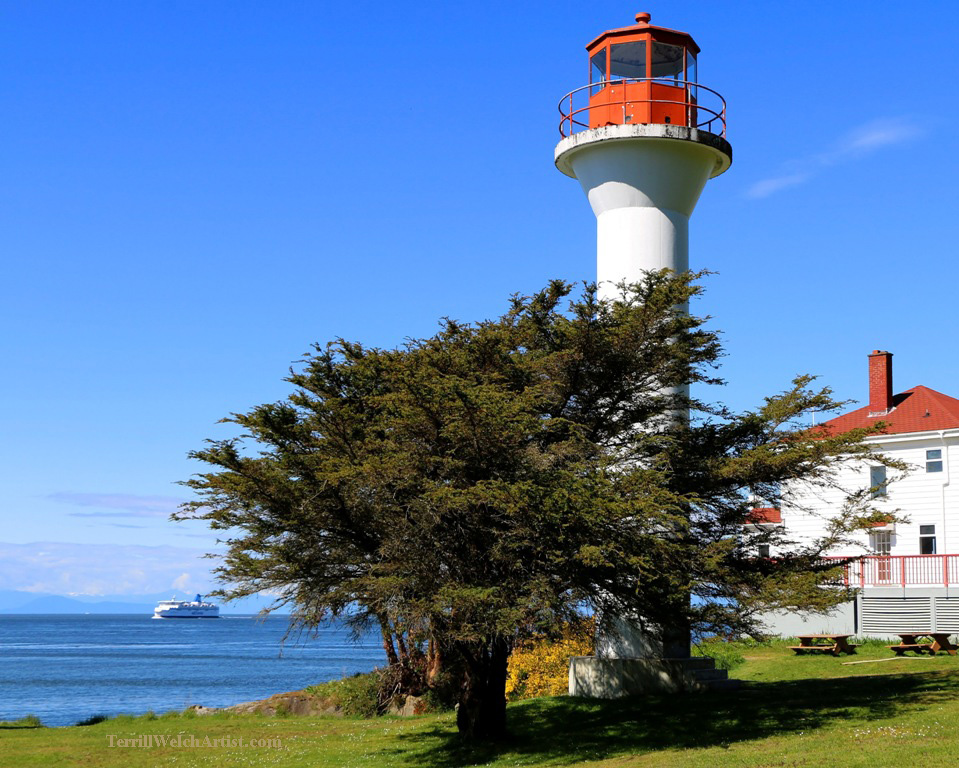 at the lighthouse Mayne Island by Terrill Welch 2015_05_07 005