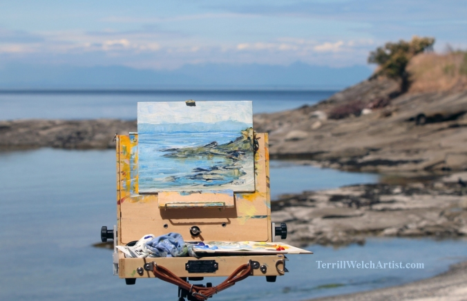 June afternoon East Point en plein air by Terrill Welch 2015_06_25 393