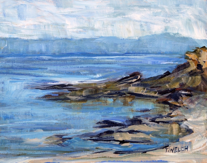 June at East Point 8 x 10 inch acrylic on panel board by Terrill Welch 2015_06_25 403