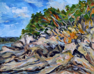 As Sea to Shore 11 x 14 inch plein air acrylic sketch by Terrill Welch 2015_09_05 105