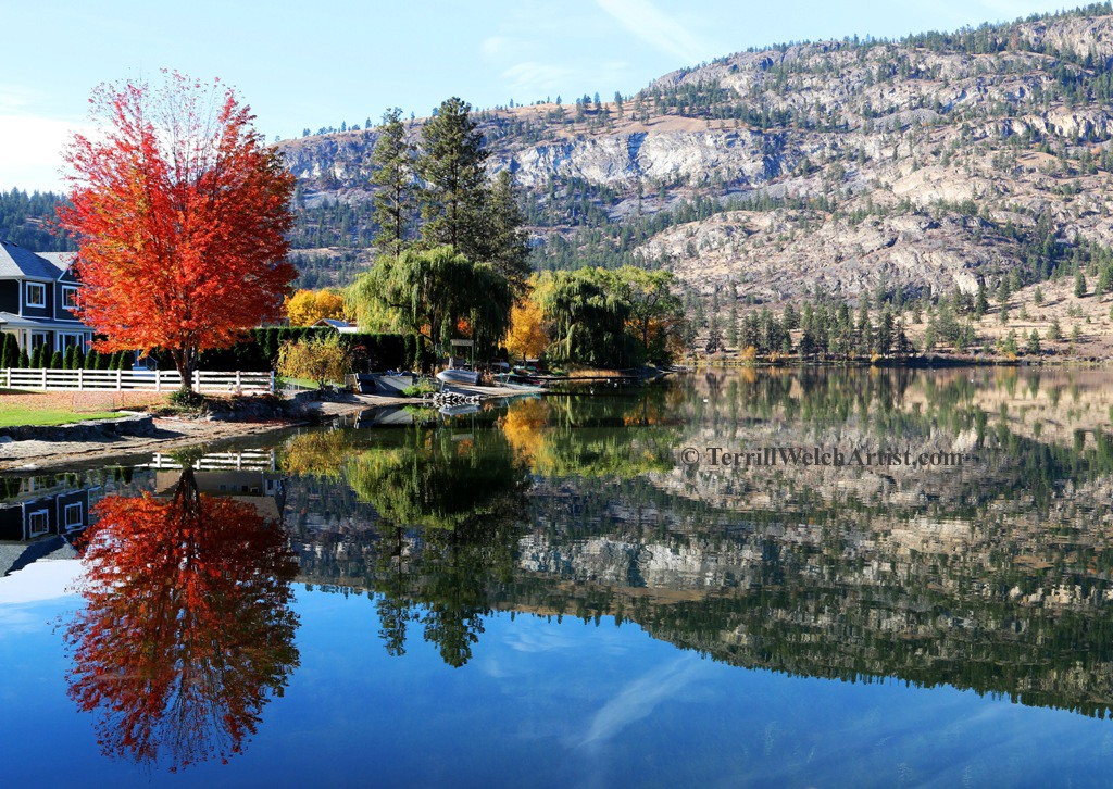 A little colour south end of Vaseux Lake British Columbia by Terrill Welch 2015_10_30 075