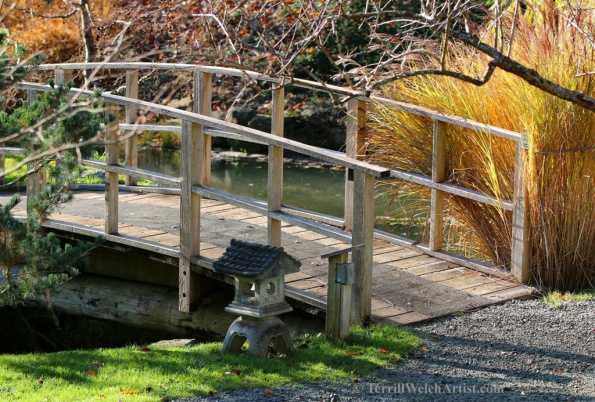 Bridge in Japanese Garden on Mayne Island by Terrill Welch 2015_11_26 022
