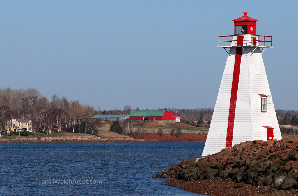 Lighthouse near Brighton Rd Charlottetown PEI by Terrill Welch IMG_3071