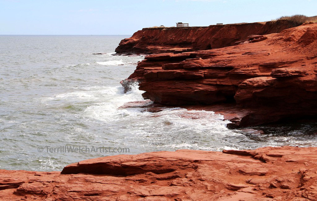Cliffs of Cavendish PEI by Terrill Welch May 11 2016 IMG_3816