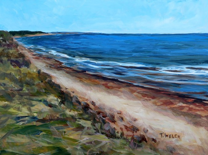 Dalvay Beach PEI 9 x 12 inch acrylic sketch on gessobord by Terrill Welch IMG_3903