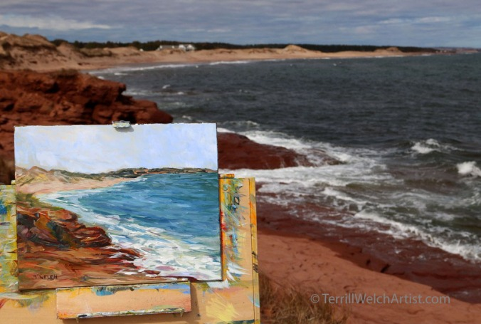 quick plein air painting sketch at Cavendish PEI by Terrill Welch May 11 2016 IMG_3809