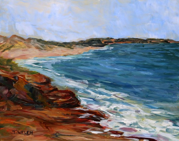 Shores of Cavendish in May PEI 8 x 10 inch acrylic sketch on gessobord by Terrill Welch IMG_3821