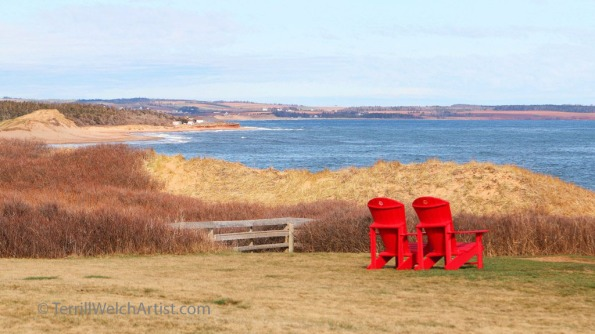 Sitting with the view at Cavendish PEI by Terrill Welch May 11 2016 IMG_3745