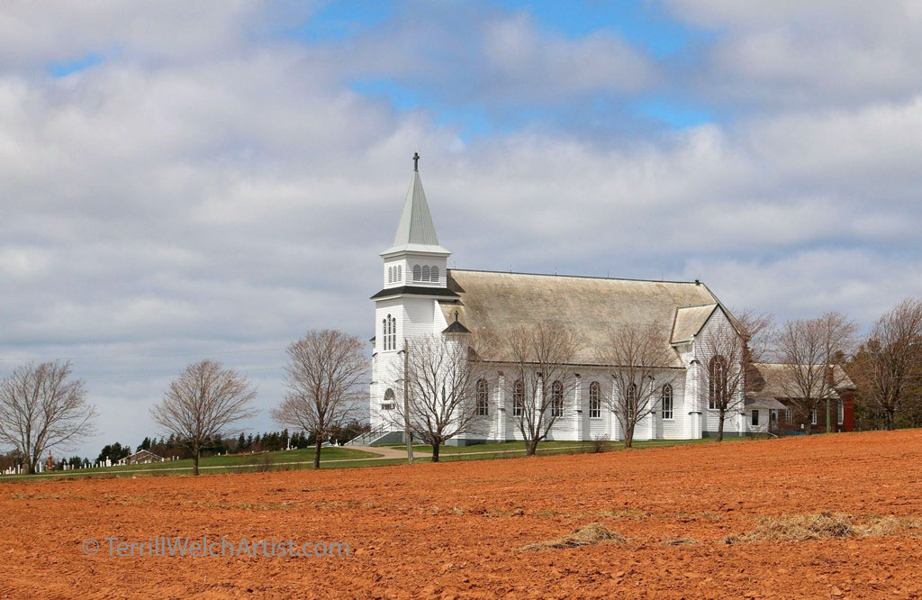St Peters Roman Catholic Church 1927 ploughed field PEI by Terrill Welch May 9 2016 IMG_3618