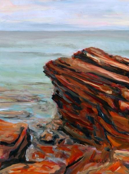 Cape Bear on edge study 12 x 9 inch acrylic sketch on gessobord by Terrill Welch IMG_5259