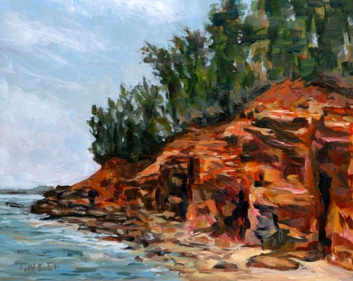 South Shores PEI study 8 x 10 inch acrylic sketch on gessobord by Terrill Welch IMG_5264