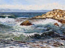 catching-waves-at-georgina-point-mayne-island-bc-30-x-40-inch-oil-on-canvas-by-canadian-artist-terrill-welch-sept-20-2016-img_0760