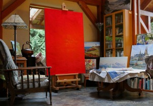 red-ground-drying-on-large-canvas-in-great-room-by-terrill-welch-january-22-2017-img_9235
