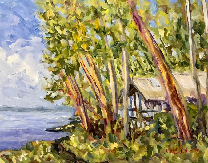 Acrylic-Study-for-Sailing-Through-The-Trees-by-Terrill-Welch